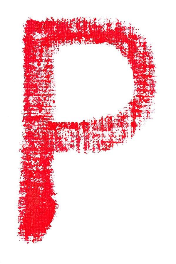 Alfabeto maiuscolo del rossetto - lettera maiuscola P illustrazione di stock