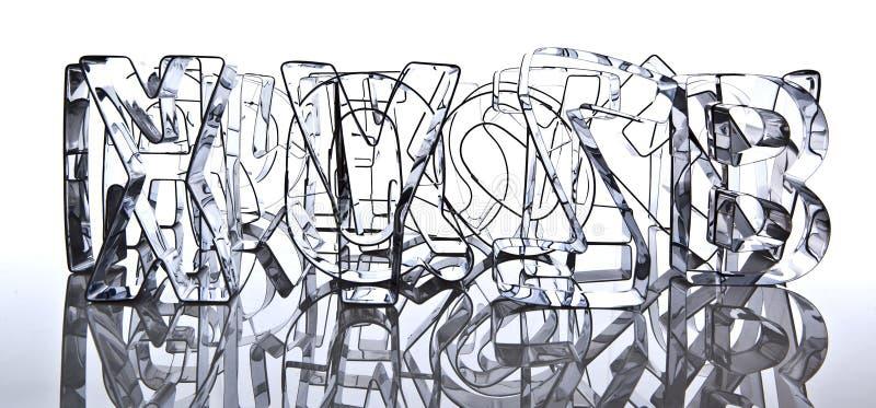 Alfabeto moderno de três dimensões ilustração stock
