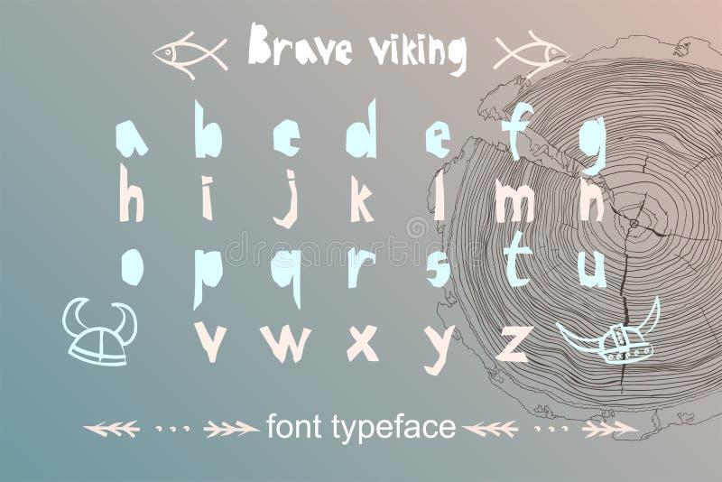Alfabeto moderno no estilo do corte do papel Tema escandinavo para o grande logotipo do projeto, cartazes das crianças, t-shirt,  ilustração royalty free