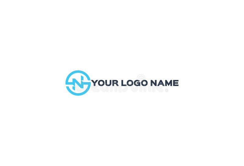 Alfabeto N Logo Design del vector stock de ilustración