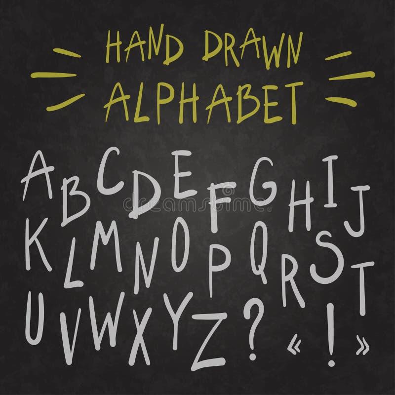 Alfabeto no quadro ilustração do vetor