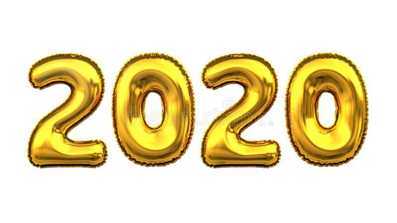 Alfabeto numérico del número del dígito de la letra de la fuente de oro metálica del globo libre illustration