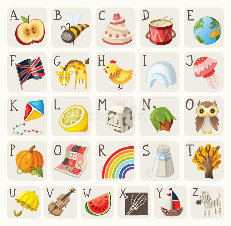 Alfabeto para los niños stock de ilustración