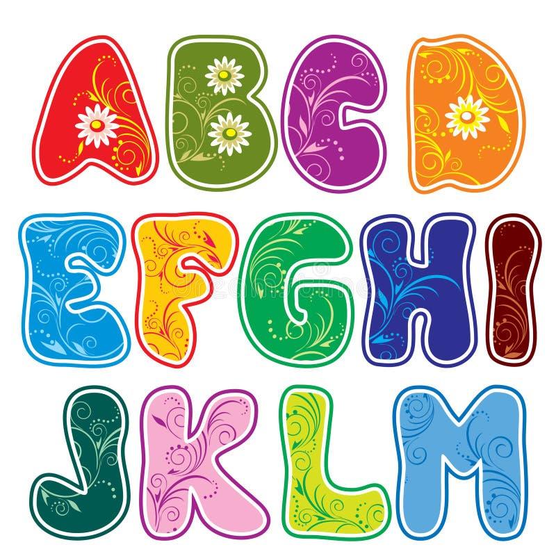 Alfabeto (parte 1) ilustração stock