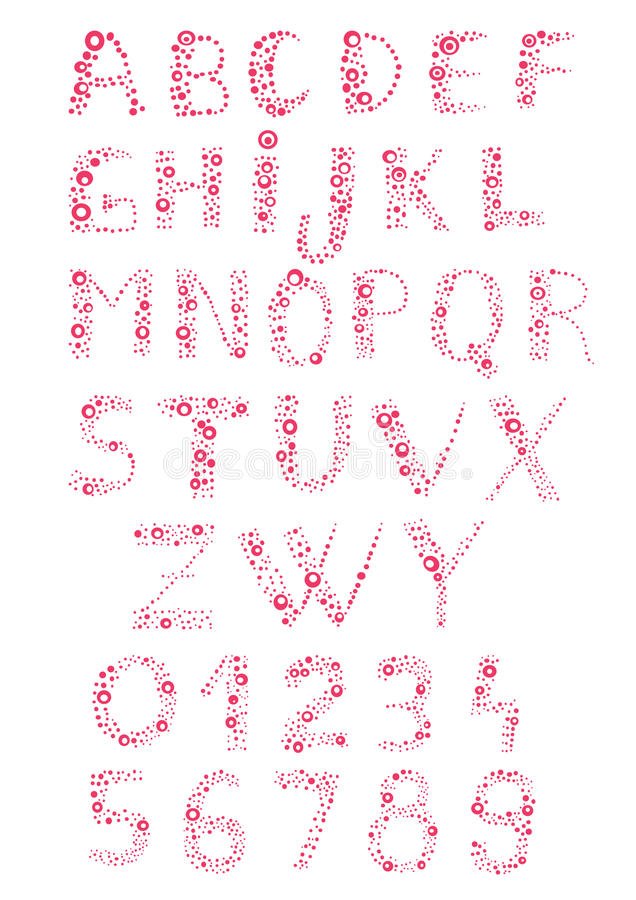 Alfabeto pieno di bolle royalty illustrazione gratis