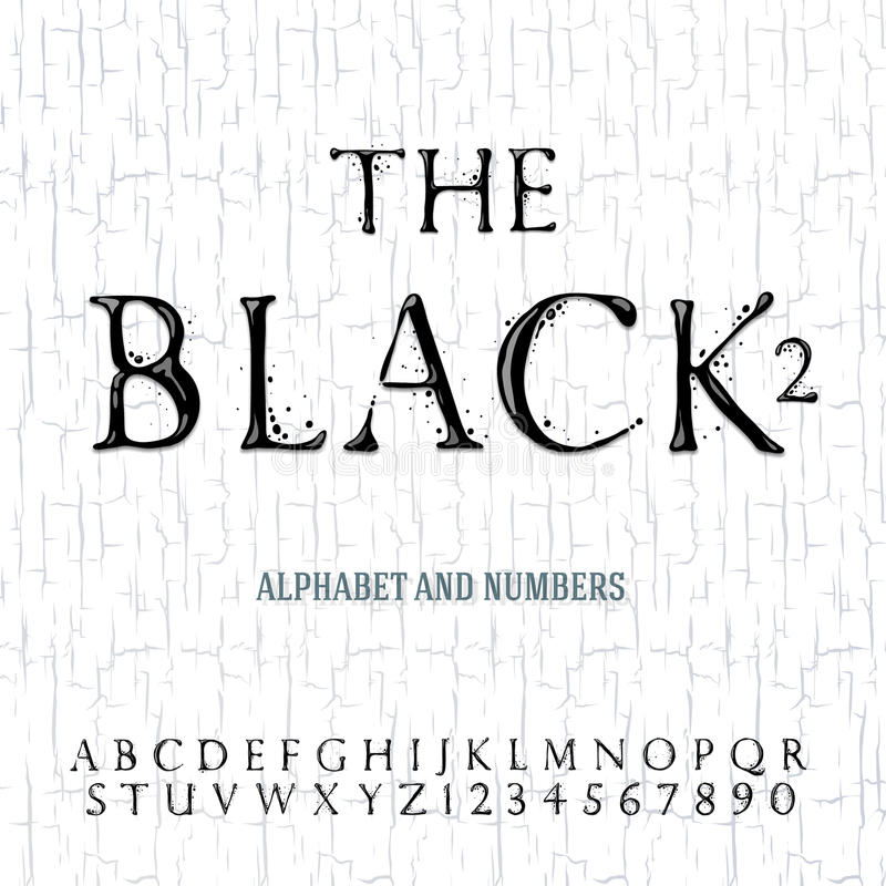 Alfabeto pintado aceite negro libre illustration