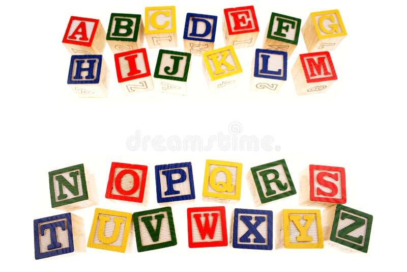 Alfabeto que aprende blocos fotos de stock royalty free