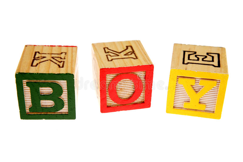 Alfabeto que aprende blocos fotografia de stock royalty free
