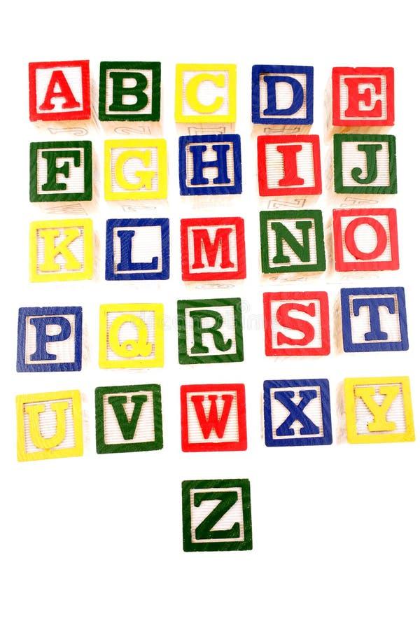 Alfabeto que aprende bloques fotos de archivo libres de regalías
