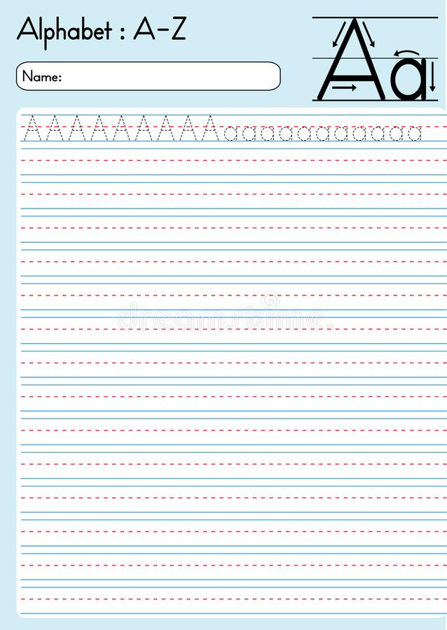 Alfabeto que remonta a A-Z Aa ilustración del vector