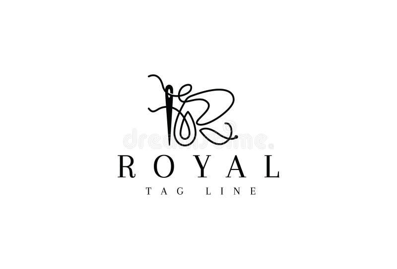 Alfabeto R Logo Design real ilustração stock