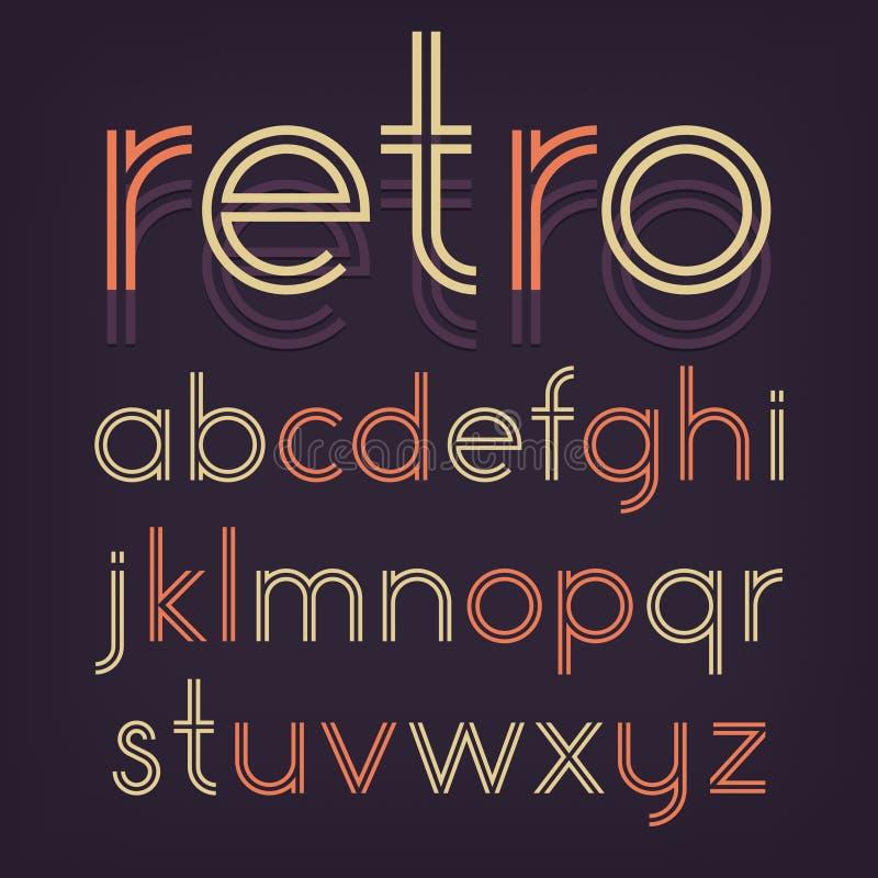 Alfabeto retro stock de ilustración
