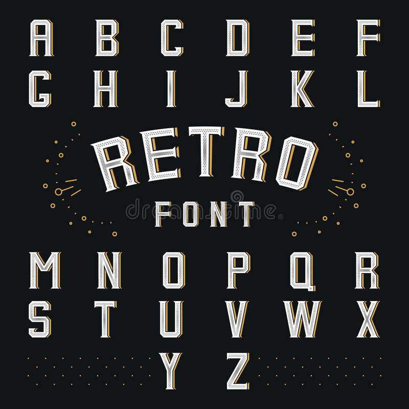 Alfabeto retro de Chicago ilustração do vetor