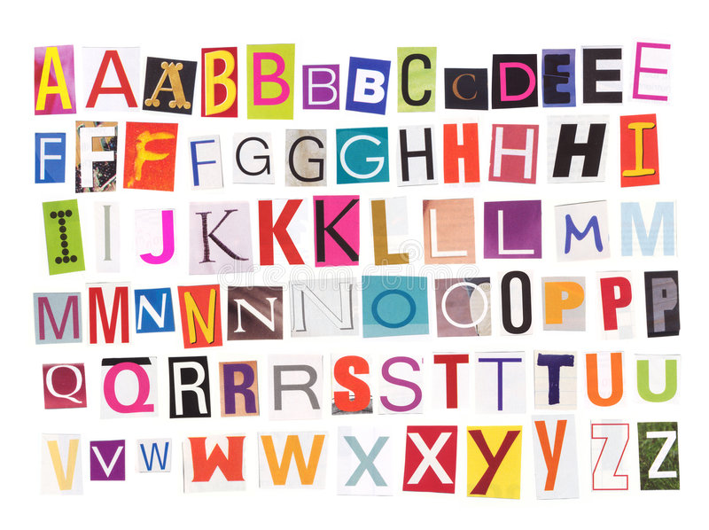 Alfabeto - ritagli dello scomparto fotografia stock libera da diritti