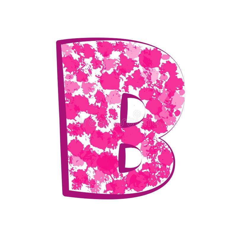 Alfabeto rosa inglese Elementi di progettazione grafica Illustrazione di vettore royalty illustrazione gratis