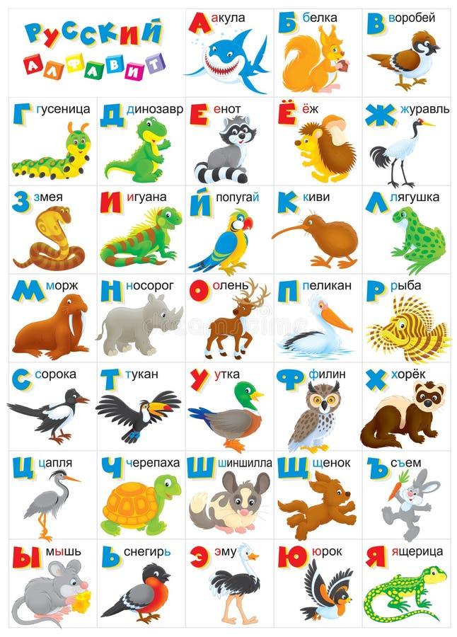 Alfabeto russo illustrazione vettoriale