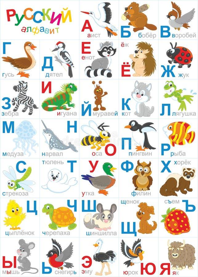 Alfabeto russo royalty illustrazione gratis