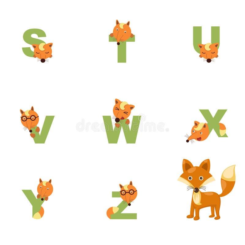 Download Alfabeto S-Z Fox ilustración del vector. Ilustración de creativo - 42434094
