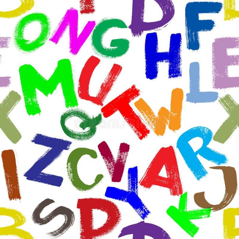 Alfabeto Senza Giunte Immagine Stock