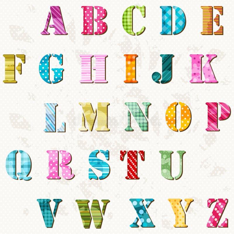 Alfabeto texturizado stock de ilustración