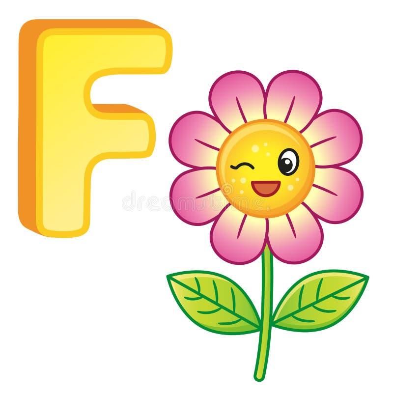 Alfabeto vívido do vetor com letras principais do alfabeto inglês e das ilustrações bonitos dos desenhos animados Cartaz para o j ilustração stock
