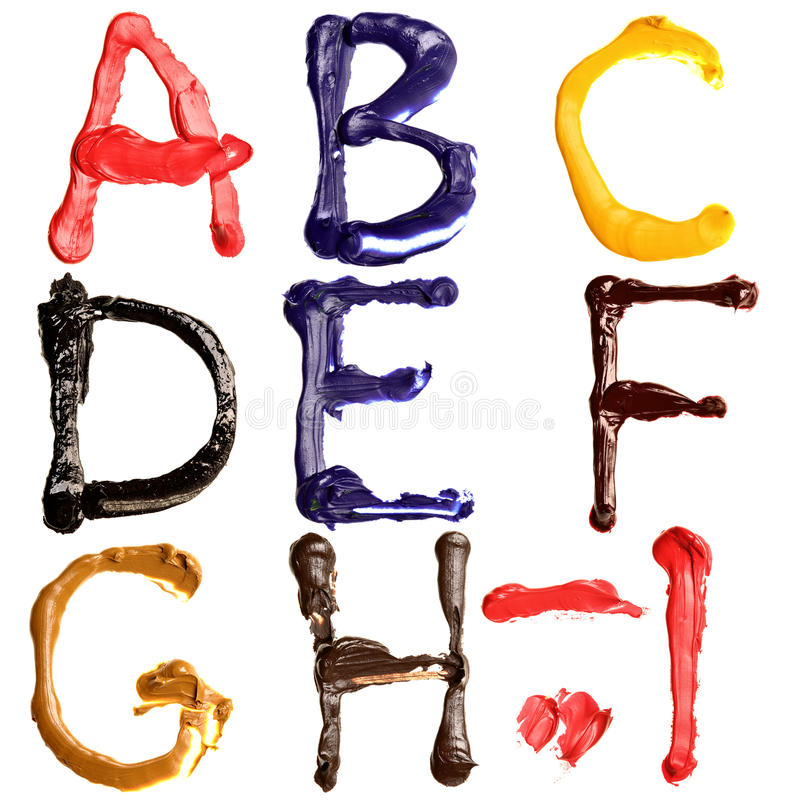 Alfabeto variopinto royalty illustrazione gratis