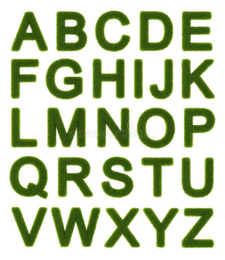 Alfabeto verde - letras de capital ilustração royalty free