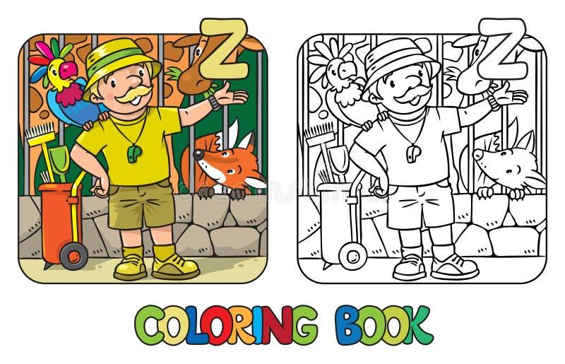 Alfabeto Z De ABC De La Profesión Del Libro De Colorear Del ...