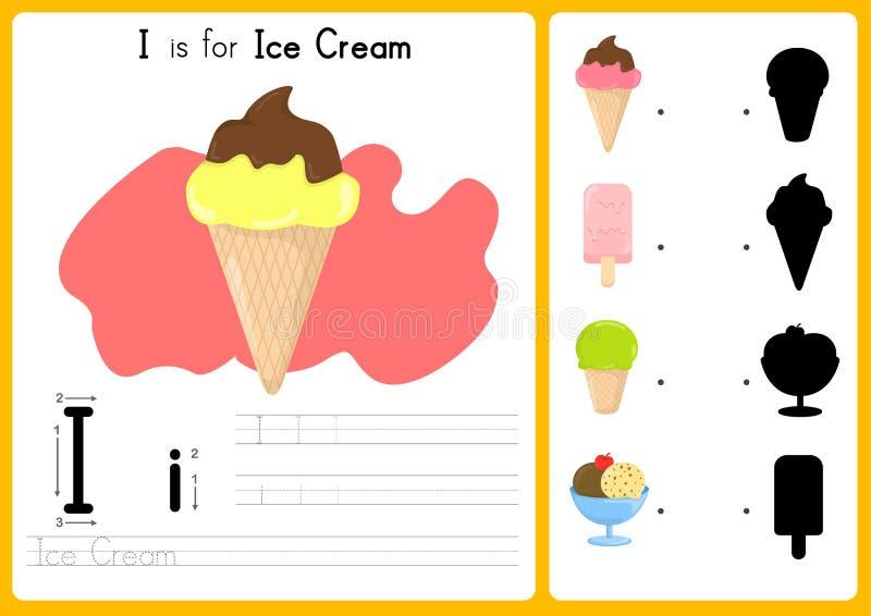 Alfabeto A-Z Tracing e foglio di lavoro di puzzle, esercizi per i bambini - illustrazione e vettore royalty illustrazione gratis