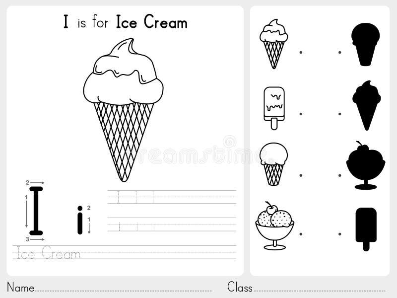 Alfabeto A-Z Tracing e foglio di lavoro di puzzle, esercizi per i bambini - libro da colorare illustrazione vettoriale