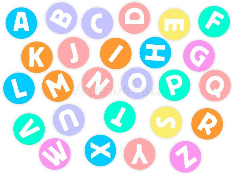 Alfabetos no círculo ilustração stock