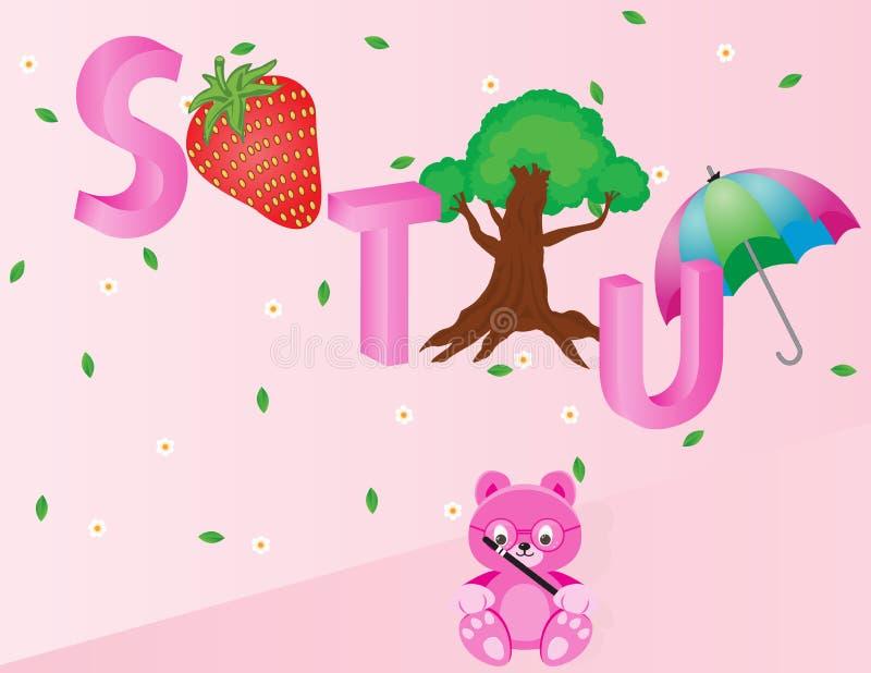 Alfabetos para los niños STU foto de archivo