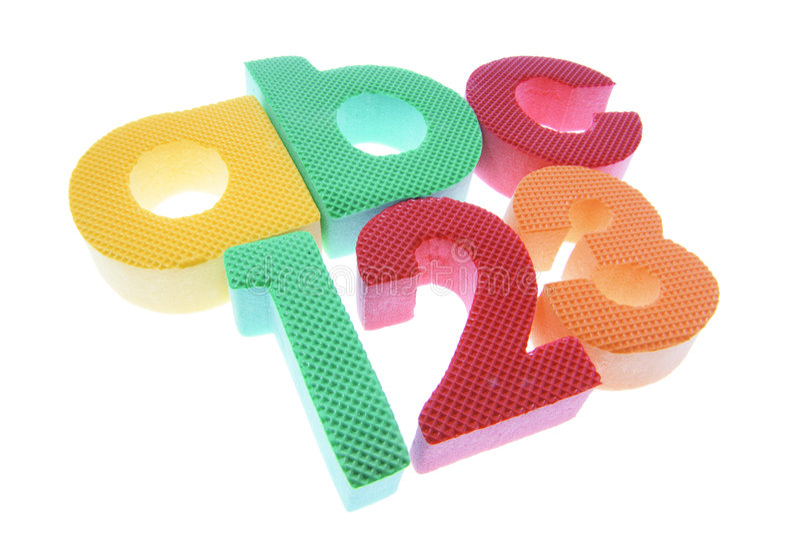 Alfabetos y números imágenes de archivo libres de regalías