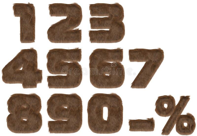 alfabetpälsnummer royaltyfri foto