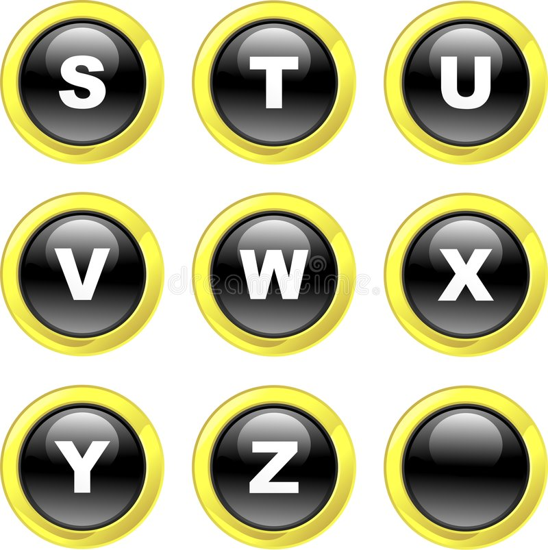 alfabetsymboler stock illustrationer