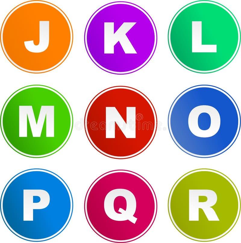 alfabetsymbolstecken vektor illustrationer