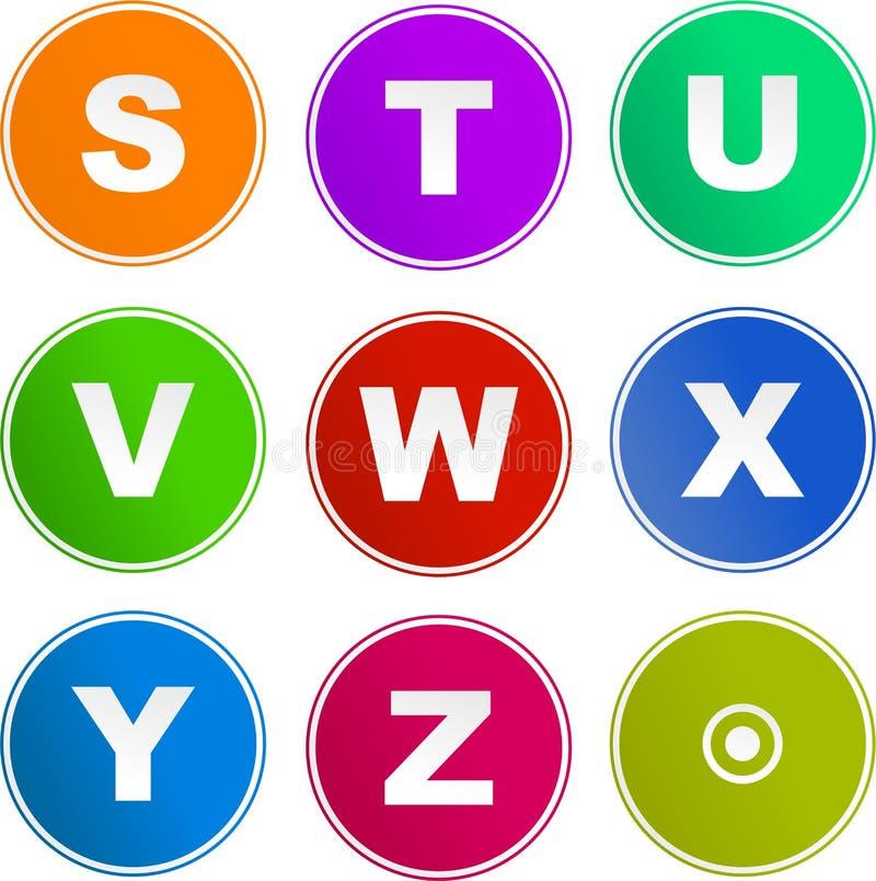 alfabetsymbolstecken stock illustrationer