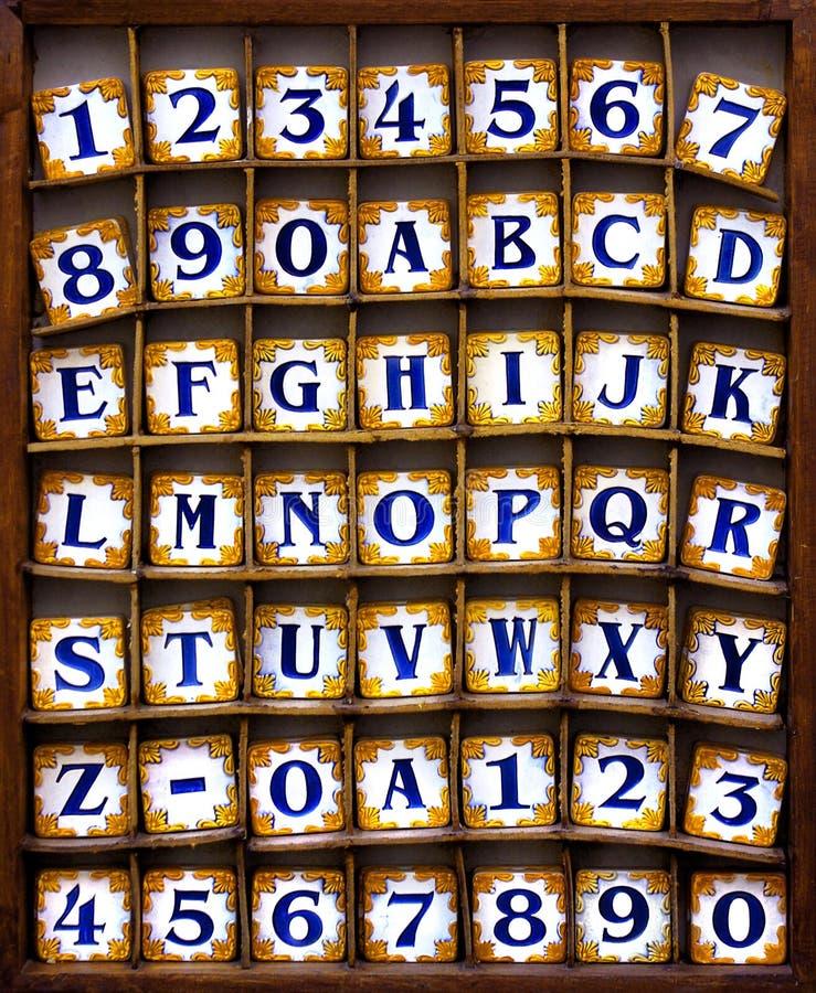 alfabettegelplattor royaltyfria foton