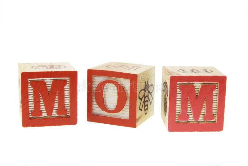 Alfabetten - Mamma stock fotografie