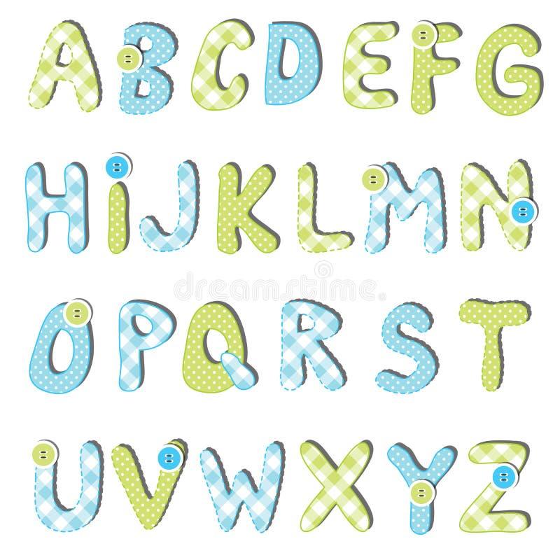 Alfabetuppsättning royaltyfri illustrationer