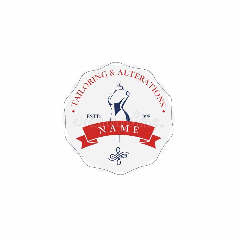 Alfaiate Sewing Company Vintage, Logo Design retro ilustração stock