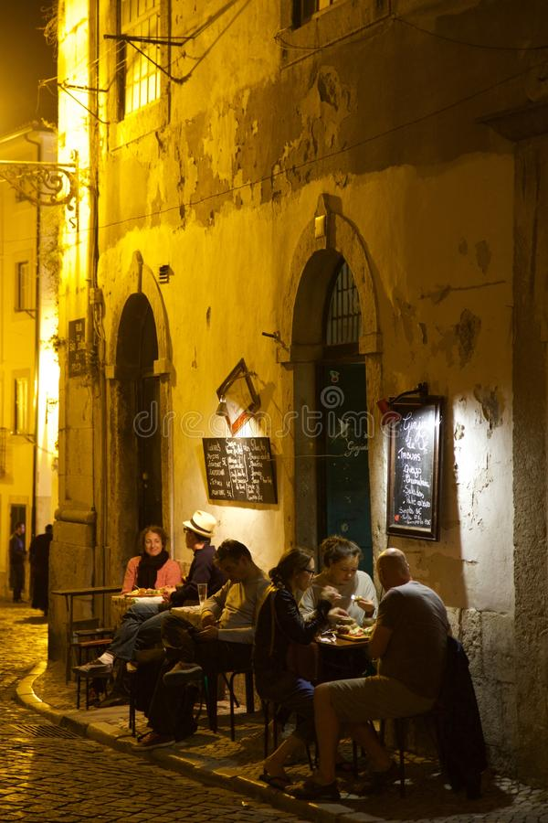 Alfama-Bezirk Lissabon Portugal stockbild