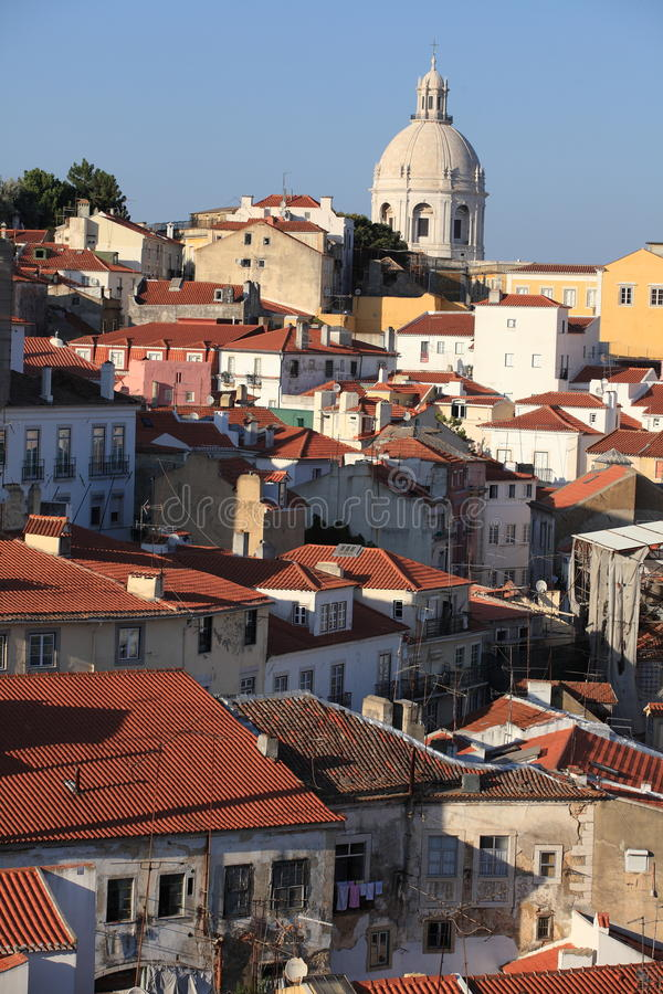 Download Alfama Lisbon stock photo. Image of lisbon, church, ruins - 26577590