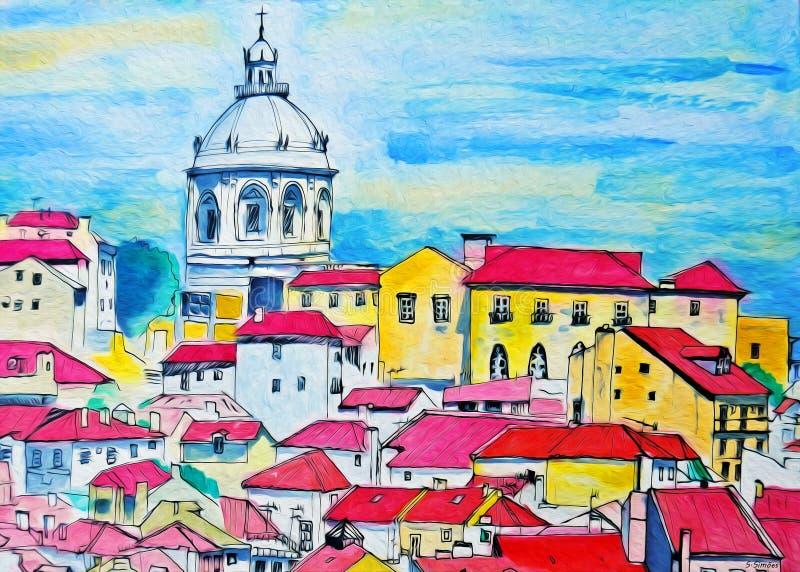 Alfama, Lisbona - Portogallo immagini stock libere da diritti