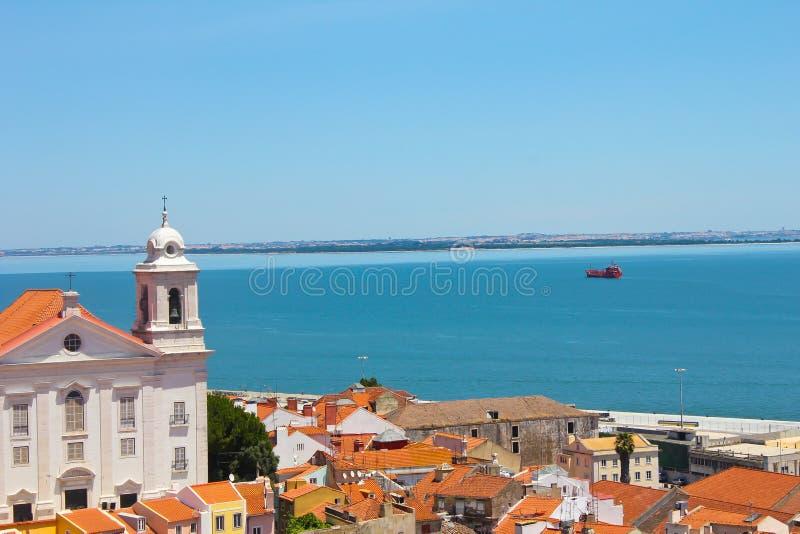Alfama Lissabon stock afbeeldingen