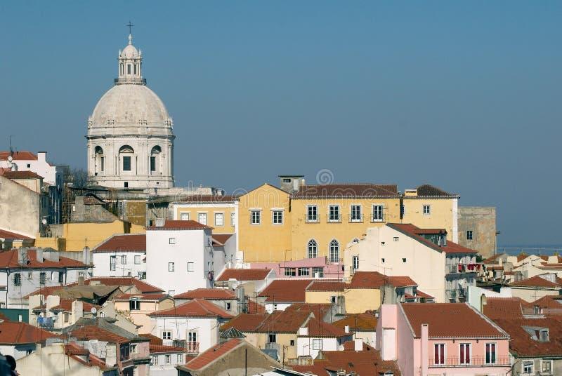 Alfama urban district of Lisbon stock photos
