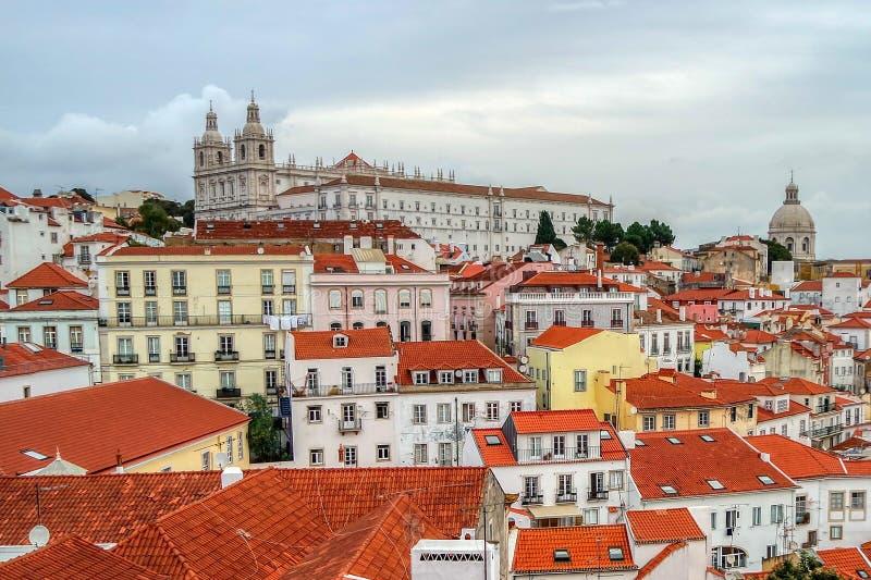 Alfamadistrict, Lissabon, Portugal royalty-vrije stock afbeeldingen