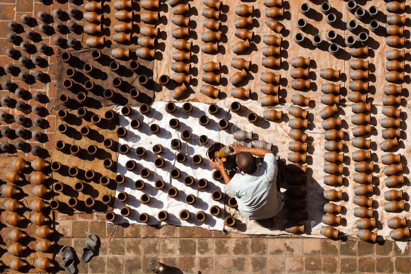 Alfarero de Nepal fotos de archivo