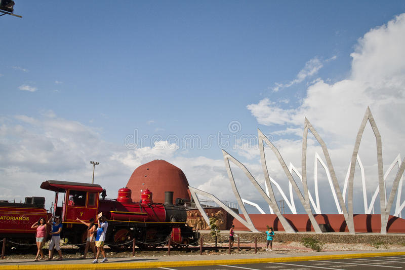 Alfaro city, home to the National Constituent. MANABI, ECUADOR - JUNE 1 , 2012: Alfaro city, ciudad Alfaro home to the National Constituent Assembly in royalty free stock photography