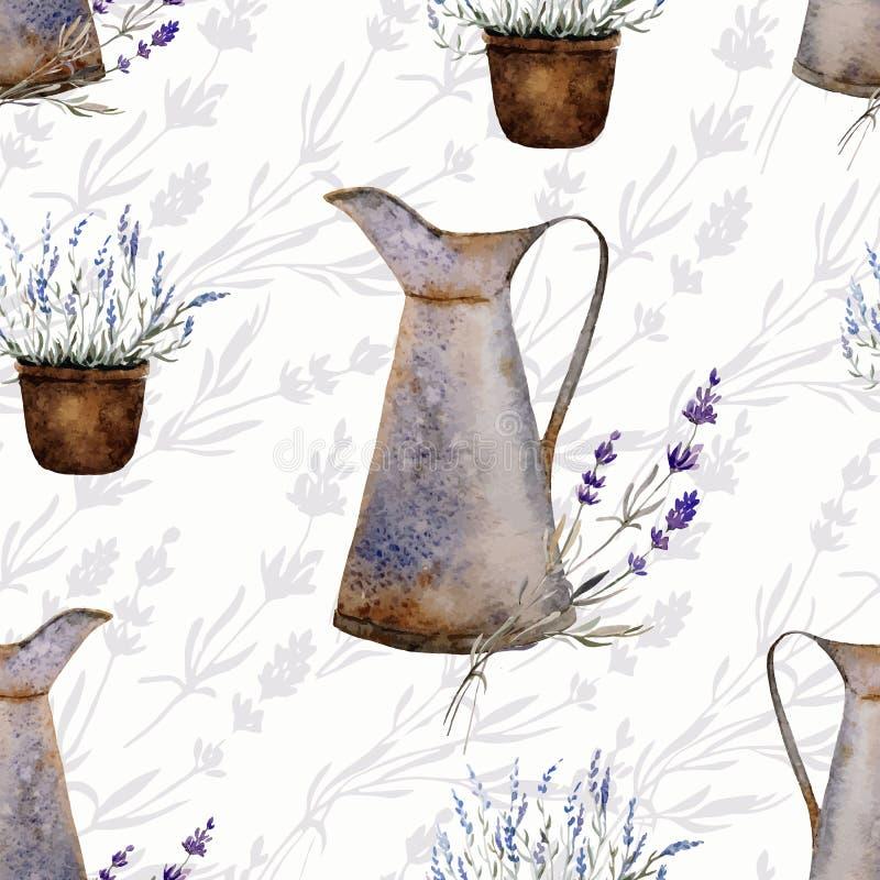 Alfazema decor2 de Provence ilustração stock